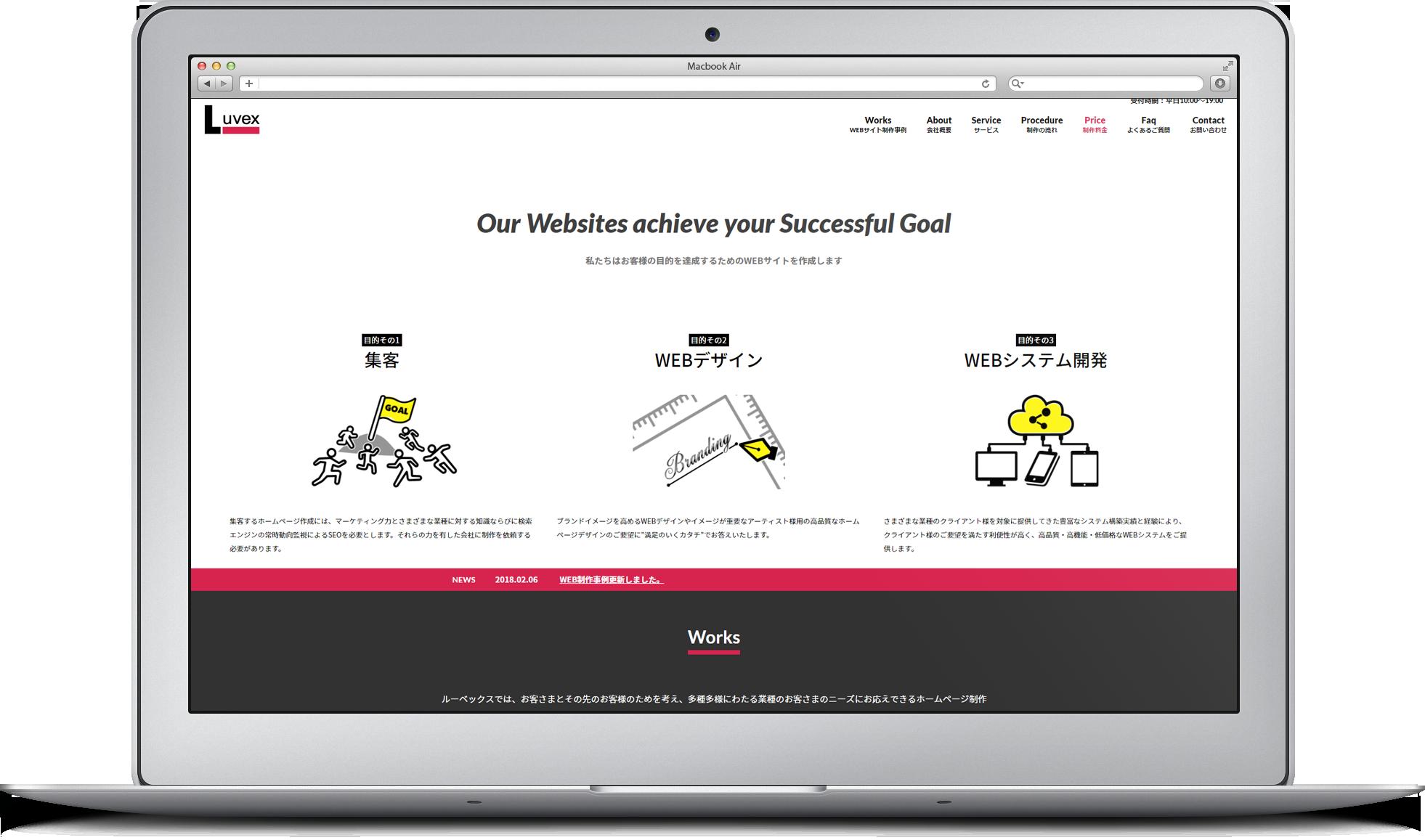 ホームページ制作のイメージ